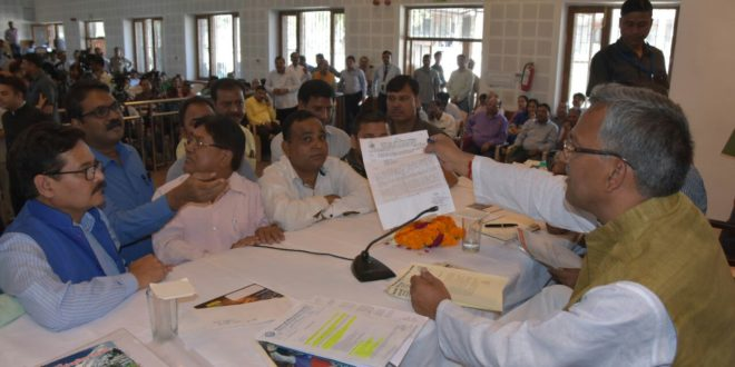 Chief Minister Heard and Solved Peoples Problems Uttarakhand Dehradun India